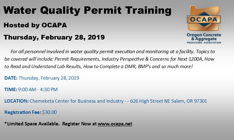 Water Quality Permit Training